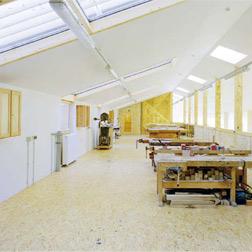 Obergeschoss des  Werkstatthauptgebäudes