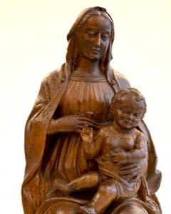 Madonna, vom Holzwurm befreit