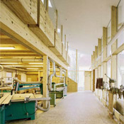 Erdgeschoss des  Werkstatthauptgebäudes